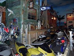 Picture inside the EZ Dock showroom