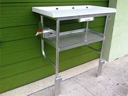 Fish Cleaning Table, also called Fish Cleaning Station