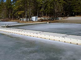 Picture of EZ Docks on a frozen lake