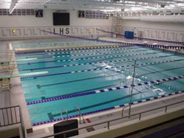 Picture of EZ Dock in competition swimming pool