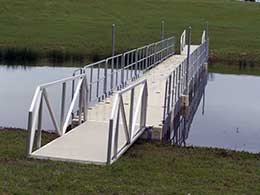 picture of custom aluminum bridge